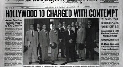 A Black Mark for America: The Hollywood Blacklist | Covalent Logic ...
